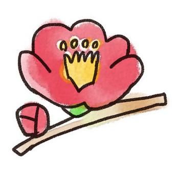 椿のイラスト(花): ゆるかわいい無料イラスト素材集