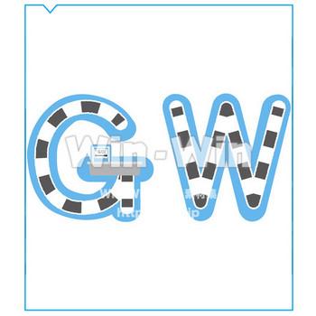 ゴールデンウィークロゴ W-016471 の無料CG・イラスト素材