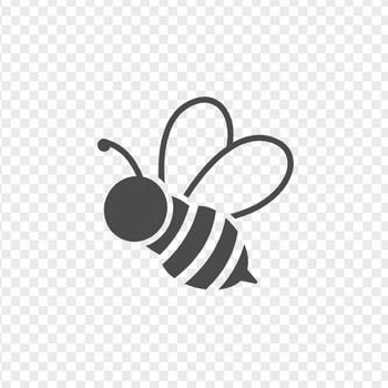 ミツバチのフリー素材1   アイコン素材ダウンロードサイト「icooon-mono」   商用利用可能なアイコン素材が無料(フリー)ダウンロードできるサイト