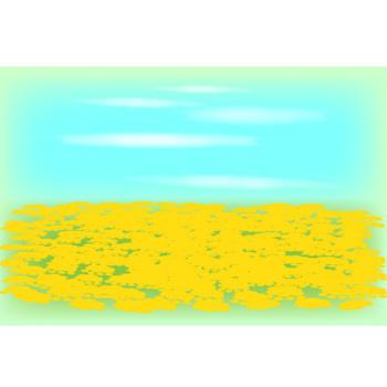 春|無料イラスト|ダウンロード|PNG/菜の花畑