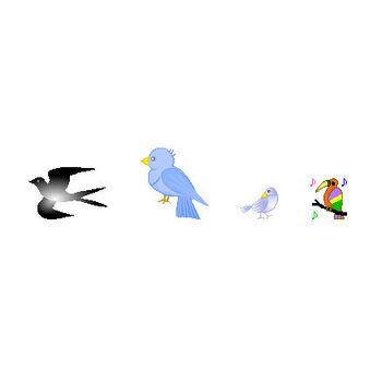鳥のアイコン・イラスト フリー素材