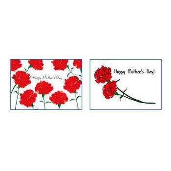 母の日のポストカードテンプレート|かわいい無料イラスト 印刷素材.net