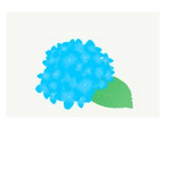 あじさい: 素材庭園(フリーイラスト素材集) ~花・動物・食べ物・人物・雑貨他