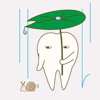 六月(梅雨)|フリー歯科イラスト【歯科素材.com】
