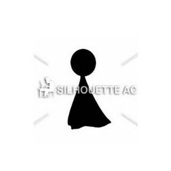 てるてる坊主|シルエット イラストの無料ダウンロードサイト「シルエットAC」