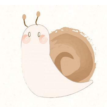 カタツムリ(でんでんむし) | 動物・季節・食べ物のフリーイラスト素材ならぴくらいく