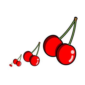 果物(サクランボ)、無料イラスト|フリー素材|素材のプチッチ