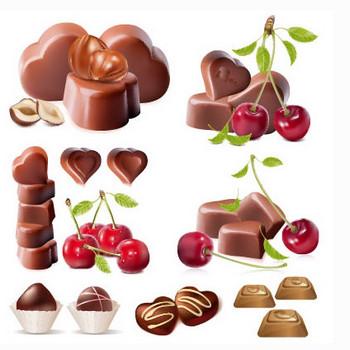 バレンタインチョコレート&チェリーのイラストai/eps | ベクタークラブ<イラストレーター素材が無料>