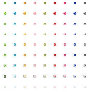 矢印アイコン素材|HP用フリー素材集