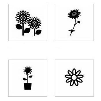 ヒマワリ|シルエット イラストの無料ダウンロードサイト「シルエットAC」