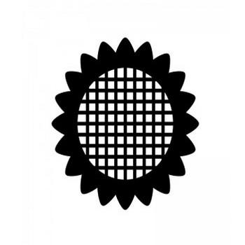 ひまわりのシルエット | 無料のAi・PNG白黒シルエットイラスト