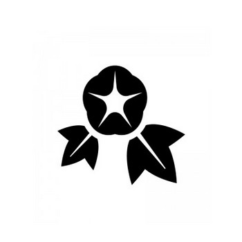 あさがお(朝顔)のシルエット | 無料のAi・PNG白黒シルエットイラスト