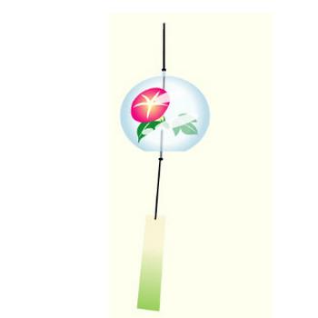 ふうりん(風鈴)のイラスト:無料画像の素材屋花子