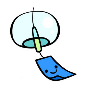 かわいい風鈴の無料イラスト素材: イラスト無料素材かわいい系