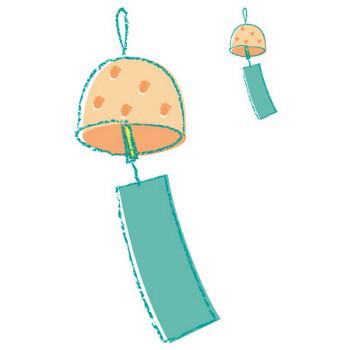 幼稚園児のイラスト・絵カード:風鈴のイラスト・絵カード