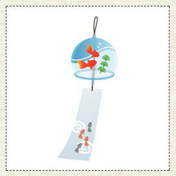 風鈴 - イラスト素材 | 商用利用可のベクターイラスト素材集「ピクト缶」
