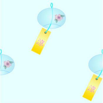 風鈴(イラスト)の無料背景画像 フリー素材集 - カフィネット