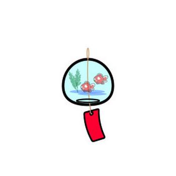 かわいい風鈴の無料イラスト・商用フリー | オイデ43