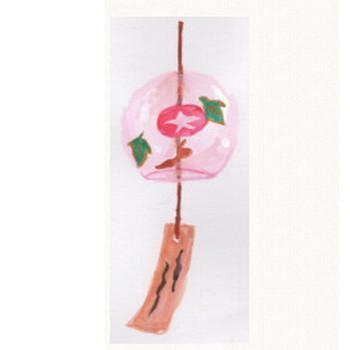 風鈴(ピンク色)水彩画のイラスト: 手書きの無料イラストとフリー素材屋byまい