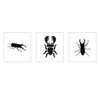 クワガタ虫|シルエット イラストの無料ダウンロードサイト「シルエットAC」