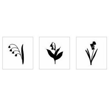 スズラン|シルエット イラストの無料ダウンロードサイト「シルエットAC」