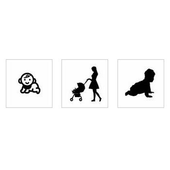 赤ちゃん|シルエット イラストの無料ダウンロードサイト「シルエットAC」