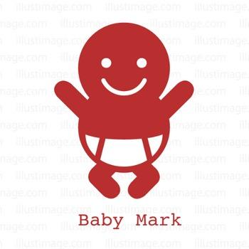 赤ちゃんマークの無料イラスト素材|イラストイメージ
