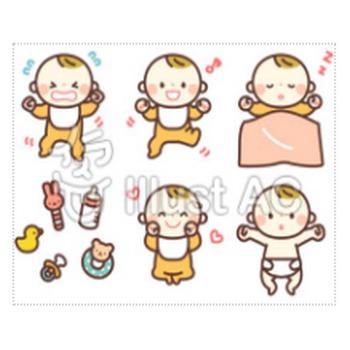 赤ちゃんイラスト/無料イラストなら「イラストAC」