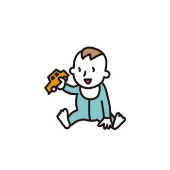 赤ちゃん(男子) – 無料で使える、フリーイラストWEBサイト「かくすた」