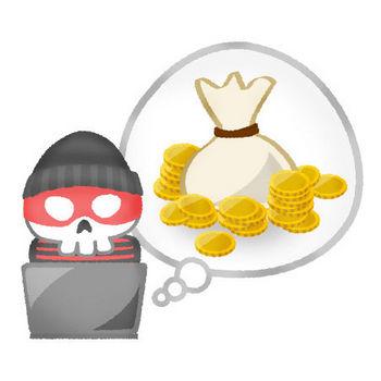 お金を盗むハッカー | フリーイラスト素材 イラストラング