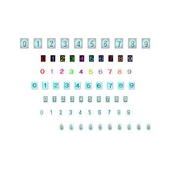 素材屋じゅん・フリー素材・カウンター素材・数字素材・イラスト・画像・絵・素材・gif
