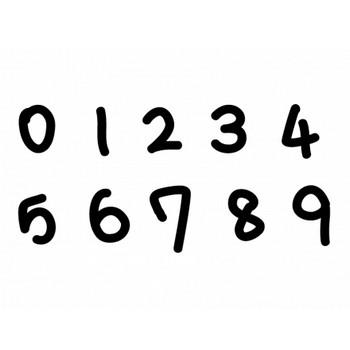 手書きマーカー風の数字イラスト | イラスト無料・かわいいテンプレート