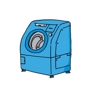 ドラム式洗濯乾燥機【イラスト素材365日】