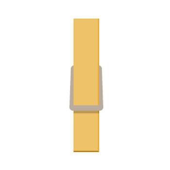 ウッドクリップ(木製ピンチ・洗濯ばさみ)のイラスト素材   無料フリーイラスト素材集【Frame illust】