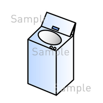 洗濯機の無料イラスト素材|登録不要のイラストぱーく