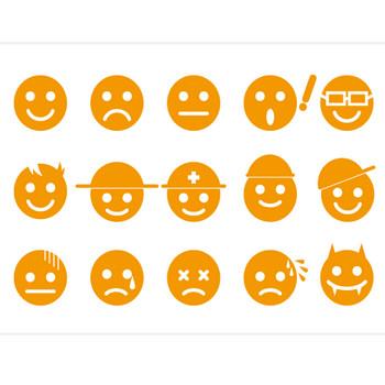 顔・表情マーク//商用利用・加工利用可能な無料フリーイラストアイコン素材集 -エムスタジオ-