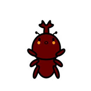 かわいいカブトムシの無料イラスト・商用フリー | オイデ43