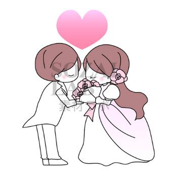 結婚式・花嫁と花婿のイラスト素材 | 無料イラスト素材|素材ラボ