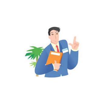 医療・学校・オフィス・職業・他−サラリーマン【イラスト素材】 MMGクリエイティブネット