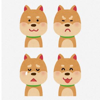 いろいろな表情の犬のイラスト「笑顔・怒り顔・泣き顔・笑い顔」 | かわいいフリー素材集 いらすとや