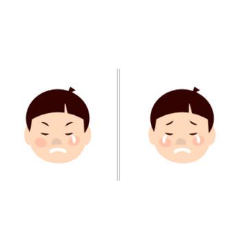 男の子の顔のイラスト|イラスト素材の素材ダス