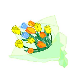 イラスト 植物・花束/花瓶