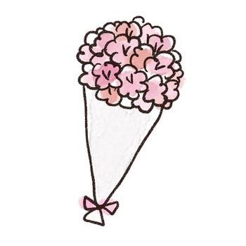 花束・ブーケのイラスト: ゆるかわいい無料イラスト素材集