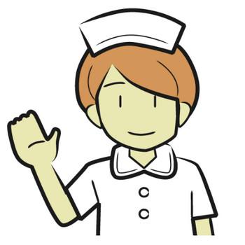 「看護師」フリーイラスト | シンプルフリーイラスト