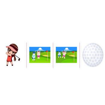 「ゴルフ」イラスト無料