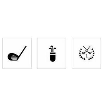 ゴルフクラブ シルエット イラストの無料ダウンロードサイト「シルエットAC」