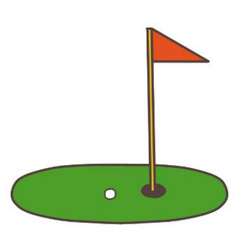 ゴルフのイラスト   かわいいフリー素材が無料のイラストレイン