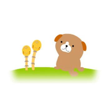 犬のイラスト【フリー素材・今日もわんパグ】無料イラスト