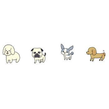 犬のイラスト | かわいいフリー素材が無料のイラストレイン
