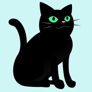 座った黒猫のイラスト|無料イラスト素材 〜ちいさないきもの〜